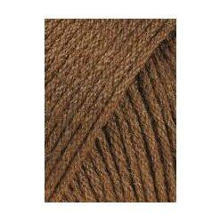 Udgået lang yarns omega, rødbrun 015 akrylgarn