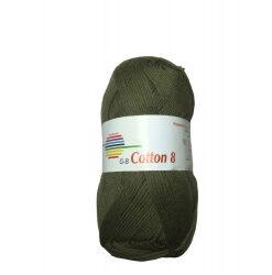 Cotton 8. farve 1424, oliven garn g-b cotton 8