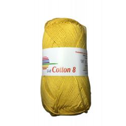 Cotton 8. farve 1472, majsgul garn g-b cotton 8