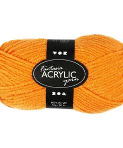 Fantasia Akrylgarn, L: 80 m, neon orange, 50g