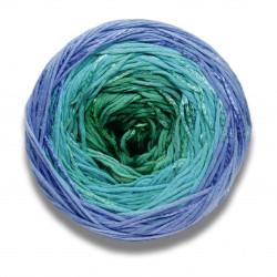 Lang yarns bloom farve grønblå bomuldsgarn
