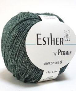 Permin Esther Garn - fv 883406 Grøn