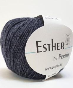 Permin Esther Garn - fv 883411 Koks Grå