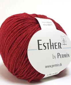 Permin Esther Garn - fv 883414 Mørk Rød