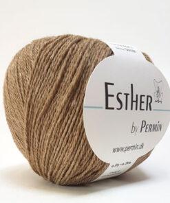 Permin Esther Garn - fv 883417 Mørk Beige