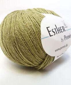 Permin Esther Garn - fv 883422 Støvet Lime