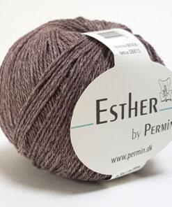 Permin Esther Garn - fv 883428 Mellem Brun
