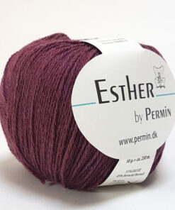 Permin Esther Garn - fv 883429 Bordeaux