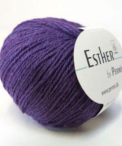 Permin Esther Garn -fv 883430 Mørk Lilla
