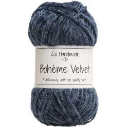 Bohème velvet fine, blå garn go handemade bohème velvet fine