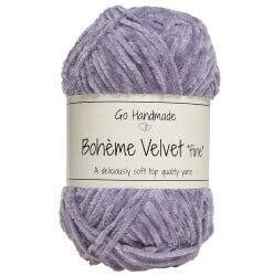 Bohème velvet fine, lavendel garn go handemade bohème velvet fine