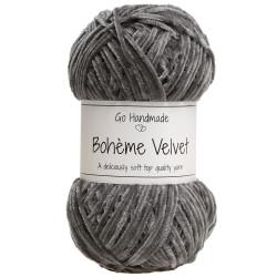 Bohème velvet fine, mørkegrå garn go handemade bohème velvet fine