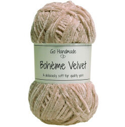 Bohème velvet fine, nude garn go handemade bohème velvet fine