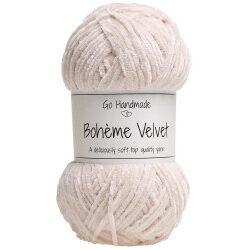 Bohème velvet fine, sand garn go handemade bohème velvet fine