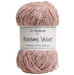 Bohème velvet fine, soft rose garn go handemade bohème velvet fine
