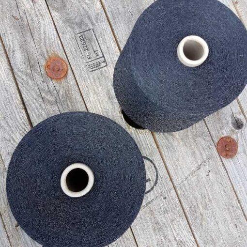 Bomuld følgetråd (1kg) - blåsort/sølv