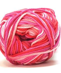 Cotton nr. 8/4 - Bomuldsgarn til hækling - fv 597 Flerfarvet