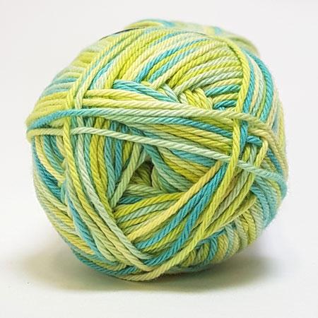 Cotton nr. 8/4 - Bomuldsgarn til hækling - fv 598 Flerfarvet