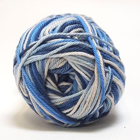 Cotton nr. 8/4 - Bomuldsgarn til hækling - fv 599 Flerfarvet