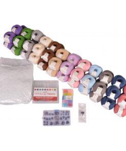 Infinity Hearts Rose Kæmpe Bamse Hæklepakke 3 kg Garn - 12x5 nøgler