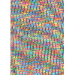 Lang yarns sol dégradé. farve 52, multifarvet bomuldsgarn