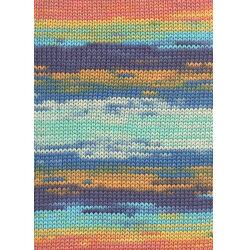 Lang yarns sol dégradé. farve 53, mint/orange/blå/syren bomuldsgarn