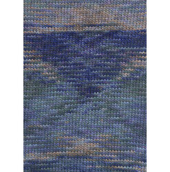 Lang yarns camille. farve 152, syren/abrikos/blå bomuldsgarn