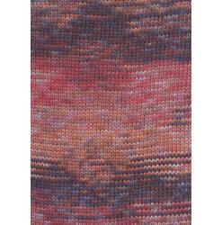 Lang yarns camille. farve 53, rød/orange/brun bomuldsgarn