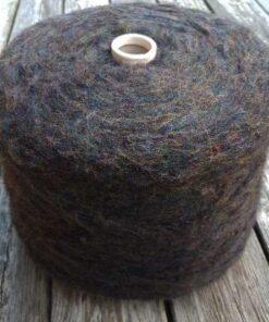 Art børstet uldgarn (1,5kg) - kaffe