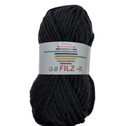 Filz-it antracit, farve 22 uldgarn