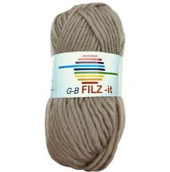 Filz-it beige, farve 28 uldgarn