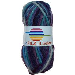 Filz-it blå og lilla toner, farve 149 uldgarn