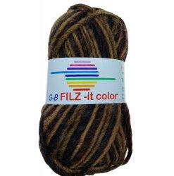 Filz-it brune nuancher, farve 145 uldgarn