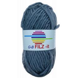 Filz-it grå, farve 17 uldgarn