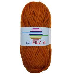 Filz-it græskar, farve 03 uldgarn