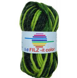 Filz-it grønne nuancher, farve 146 uldgarn