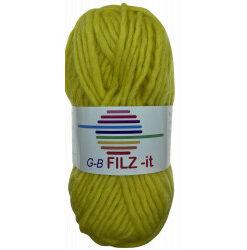 Filz-it gul farve 02 uldgarn