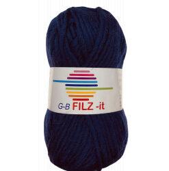 Filz-it jeans blå, farve 24 uldgarn