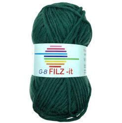 Filz-it julegrøn, farve 26 uldgarn