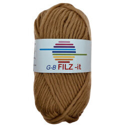 Filz-it karamel, farve 12 uldgarn