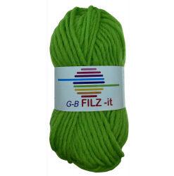 Filz-it lysegrøn, farve 15 uldgarn