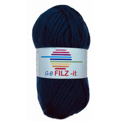 Filz-it marineblå, farve 11 uldgarn