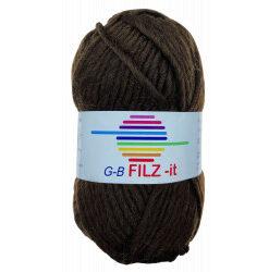 Filz-it mørkebrun, farve 13 uldgarn