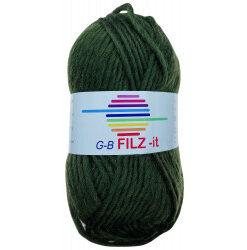Filz-it oliven grøn, farve 10 uldgarn