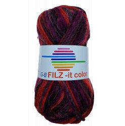 Filz-it røde toner, farve 151 uldgarn