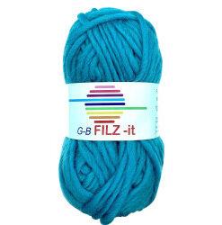 Filz-it turkis, farve 08 uldgarn