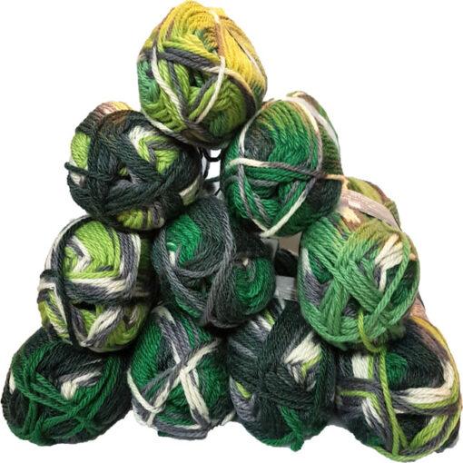 Garn pakke med Ragg sock flerfarvet 1261