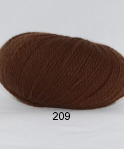 Hjerte Fine Highland Wool - Uldgarn - Hjertegarn - fv 209 Brun