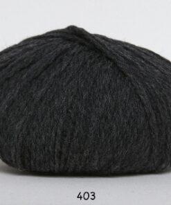 Hjerte Fine Highland Wool - Uldgarn - Hjertegarn - fv 403 Koks Grå