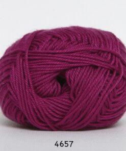 Hjertegarn Diamond Cotton - merceriseret bomuld - fv 4657 Mørk Pink